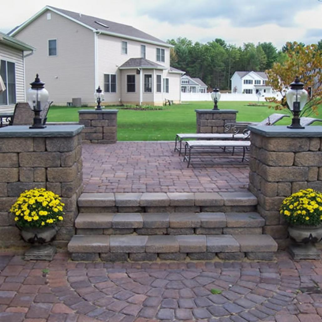 Awesome Octagon Patio Pavers Installation