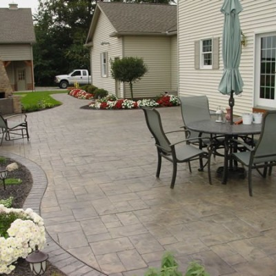 Stamped Concrete Patio Installation   Stamped Concrete   Bend, Oregon